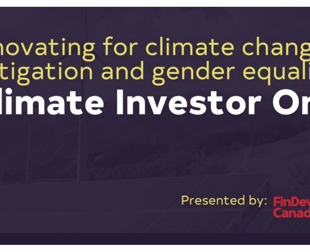 Climate Investor One